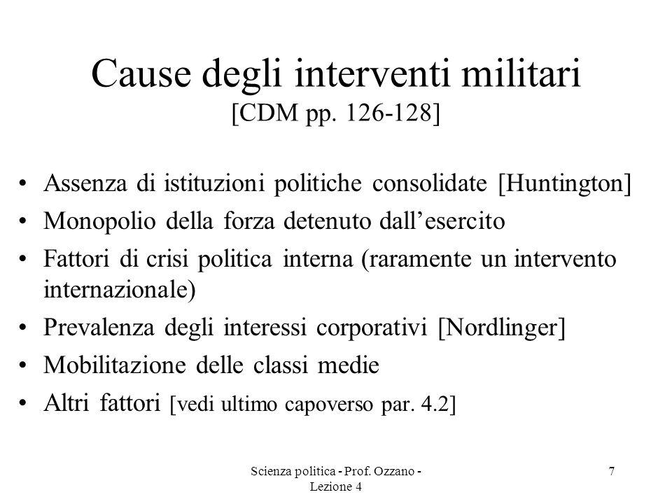 Cause degli interventi militari [CDM pp. 126-128]